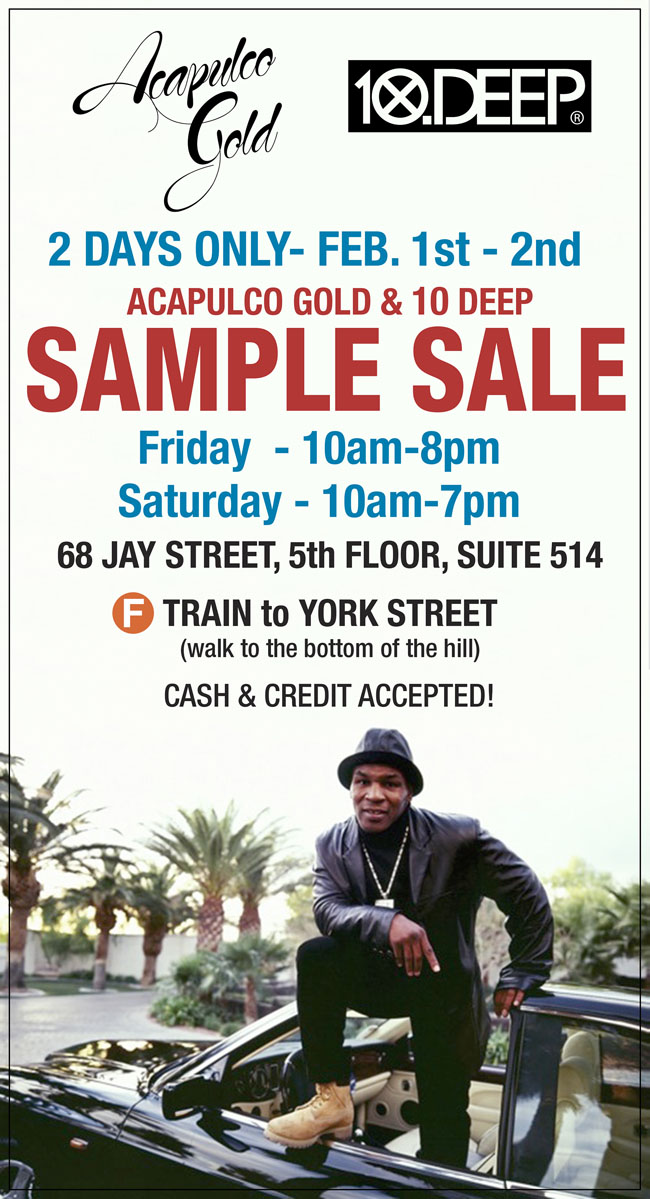 10DEEP Sample Sale Starts Tomorrow! @10deep
