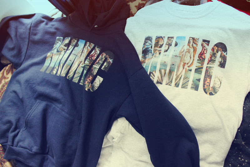 Check out @Mimicclothing! Birth of Venus Hoodies now for pre-order!