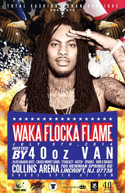 Waka Flocka Flame Concert At Collins Arena ( July 5th ) via @TheGoodieBag